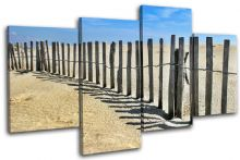 Beach Fence Sunset Seascape - 13-1987(00B)-MP04-LO